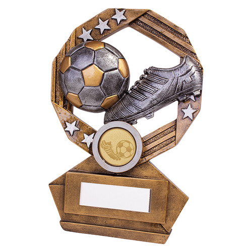 Enigma boot & ball Football series trophy available in 3 sizes with FREE Engraving