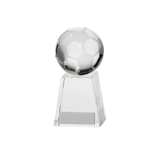 Stunning crystal glass football award with 3D image and FREE engraving.