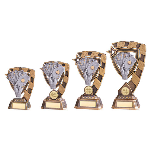Poker trophies in 4 sizes available at 1stPlace4Trophies with FREE engraving