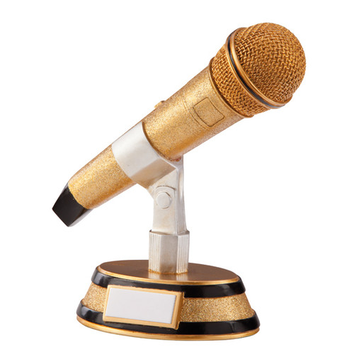 Fantastic Karaoke King Award available with FREE engraving at 1stPlace4Trophies