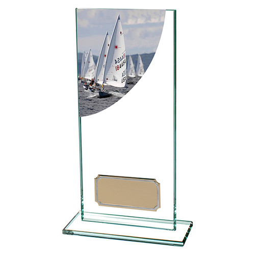 Colour Curve jade glass Sailing award with FREE engraving at 1st Place 4 Trophies & Gifts