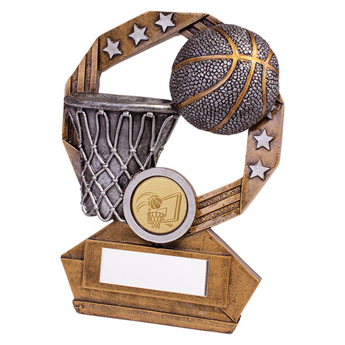 Enigma Basketball series trophy available in 3 sizes with FREE Engraving
