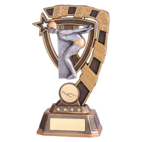 Euphoria Male Swimming Award available in 4 super sizes with FREE Engraving