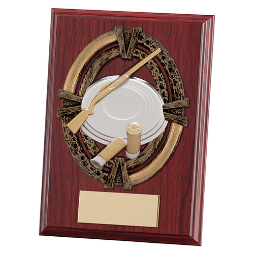 "Maverick Apollo 5"" & 6"" mahogany shooting plaques with FREE engraving"