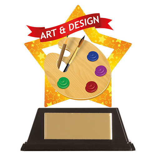 Art & Design acrylic mini-star award at 1st Place 4 Trophies