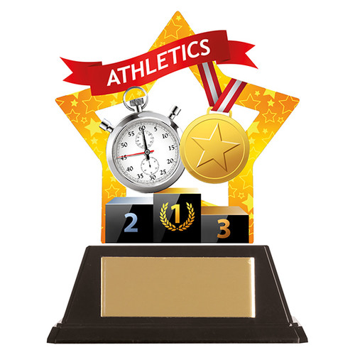 Athletics acrylic mini-star award at 1st Place 4 Trophies
