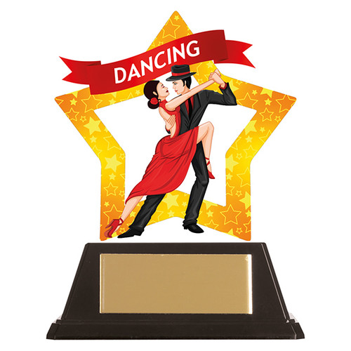 Ballroom Dance acrylic mini-star award at 1st Place 4 Trophies