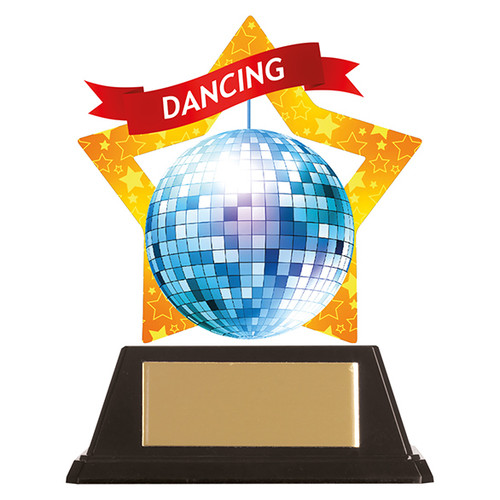 Disco dance acrylic mini-star award at 1st Place 4 Trophies