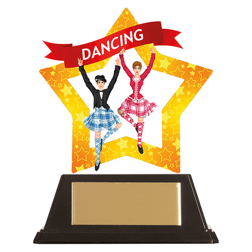 Highland dance acrylic mini-star award at 1st Place 4 Trophies