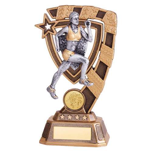 Euphoria female running Award available in 3 super sizes with FREE Engraving