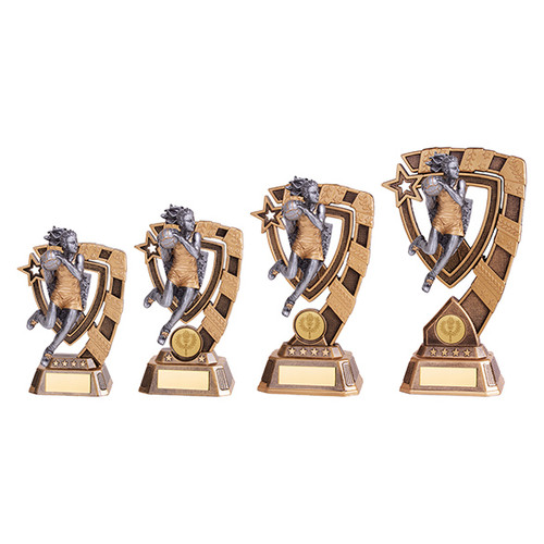 Euphoria Netball Award available in 4 super sizes with FREE Engraving