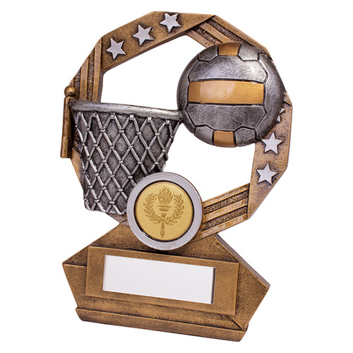 Enigma Netball series trophy available in 3 sizes with FREE Engraving