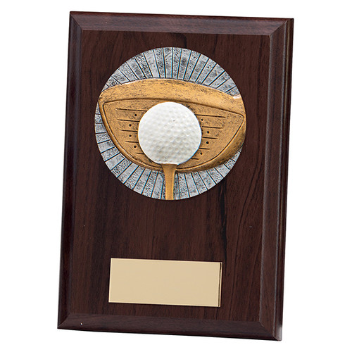 """Phoenix 5"""" & 6"""" golf iron club and ball plaques with FREE engraving"""