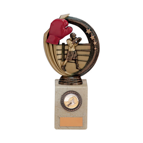 "7.75"" Renegade Legend Boxing Award in a superb choice of 5 sizes with FREE engraving at 1st Place 4 Trophies"