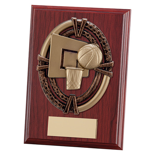 "Maverick Apollo 5"" & 6"" mahogany basketball plaques with FREE engraving"
