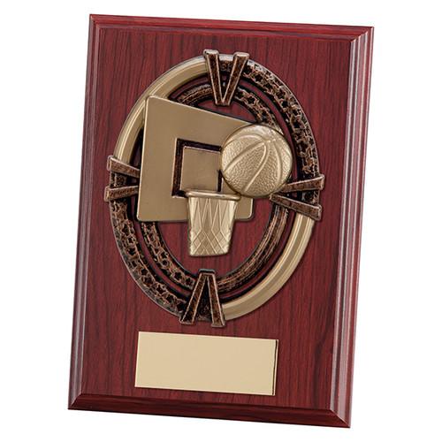 "Maverick Apollo 5"" & 6"" mahogany basketball plaques with FREE engraving"