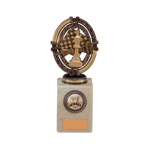 Maverick Legend Chess Award in a superb choice of 5 sizes with FREE engraving at 1st Place 4 Trophies