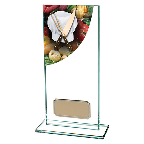 Colour Curve jade glass Cooking award with FREE engraving at 1st Place 4 Trophies & Gifts