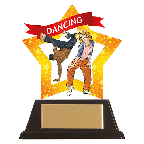 Street dance acrylic mini-star award at 1st Place 4 Trophies FREE engraving