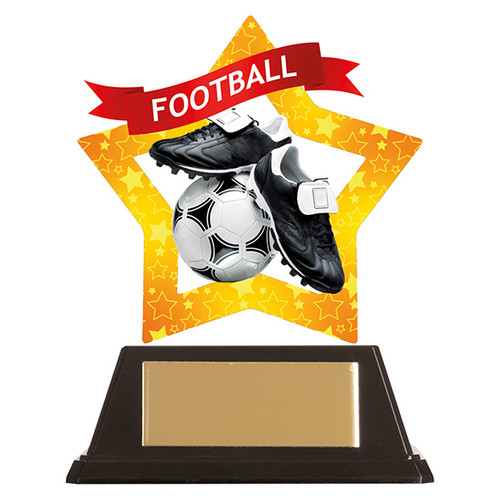 Football acrylic mini-star award at 1st Place 4 Trophies FREE engraving