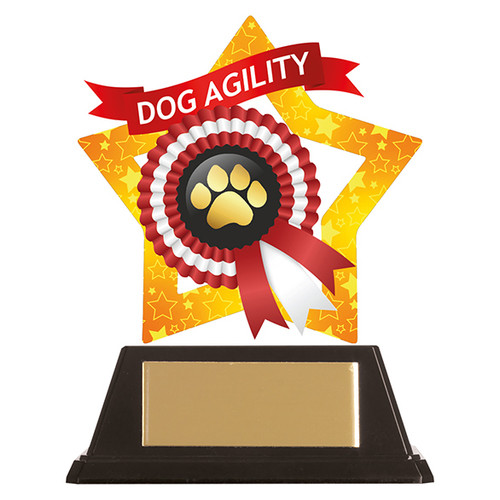 Dog Paw acrylic mini-star award at 1st Place 4 Trophies FREE engraving