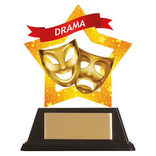Drama acrylic mini-star award at 1st Place 4 Trophies FREE engraving