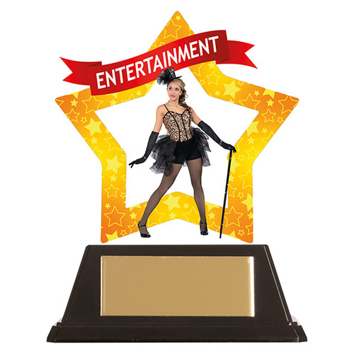 Entertainment acrylic mini-star award at 1st Place 4 Trophies FREE engraving