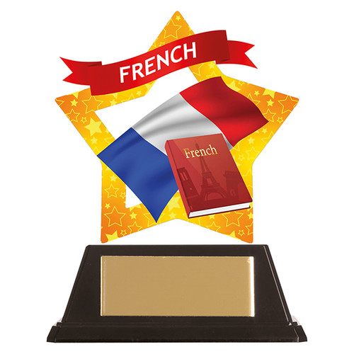 French academic acrylic mini-star award at 1st Place 4 Trophies FREE engraving