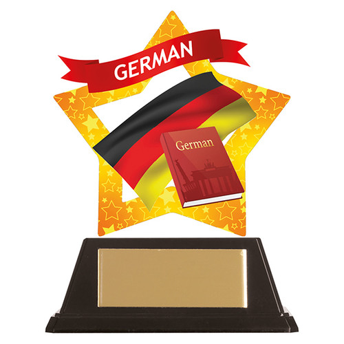 German academic acrylic mini-star award at 1st Place 4 Trophies FREE engraving