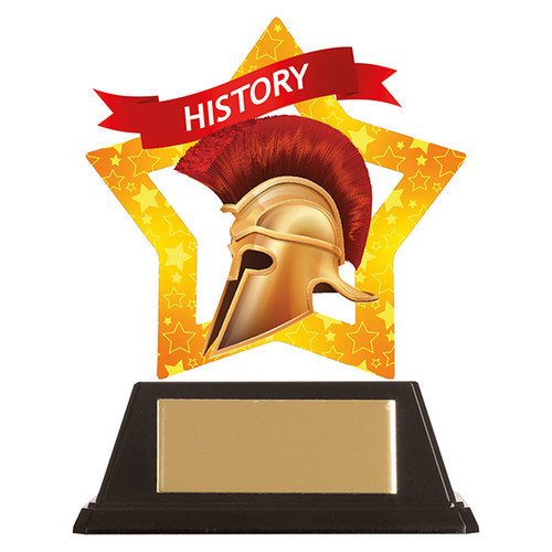 History academic acrylic mini-star award at 1st Place 4 Trophies FREE engraving