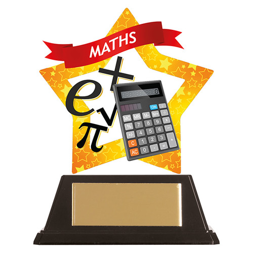 Maths academic acrylic mini-star award at 1st Place 4 Trophies FREE engraving