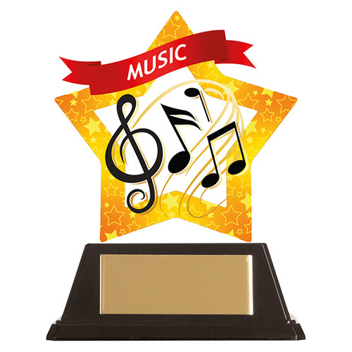 Music academic acrylic mini-star award at 1st Place 4 Trophies FREE engraving