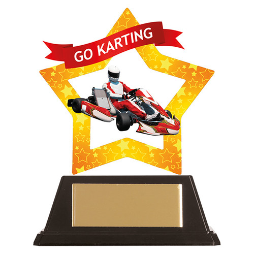 Go Karting acrylic mini-star award 1st Place 4 Trophies FREE engraving