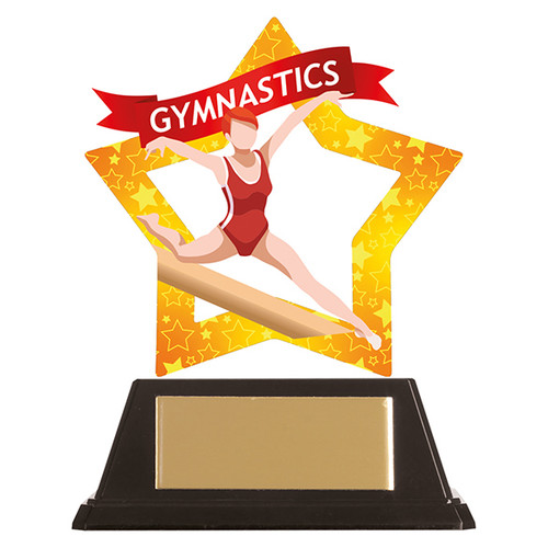 Female Gymnastics acrylic award 1st Place 4 Trophies FREE engraving
