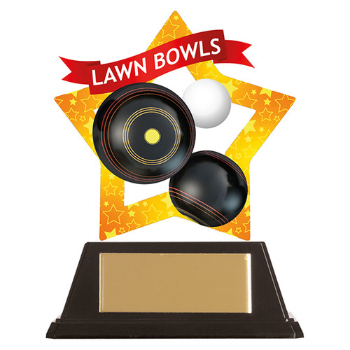 Lawn Bowls acrylic award 1st Place 4 Trophies FREE engraving