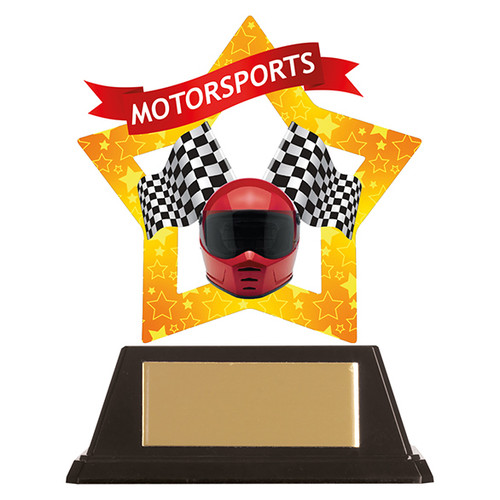 Motorsports acrylic award 1st Place 4 Trophies FREE engraving