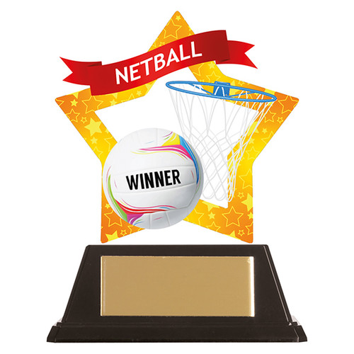 Netball acrylic award 1st Place 4 Trophies FREE engraving