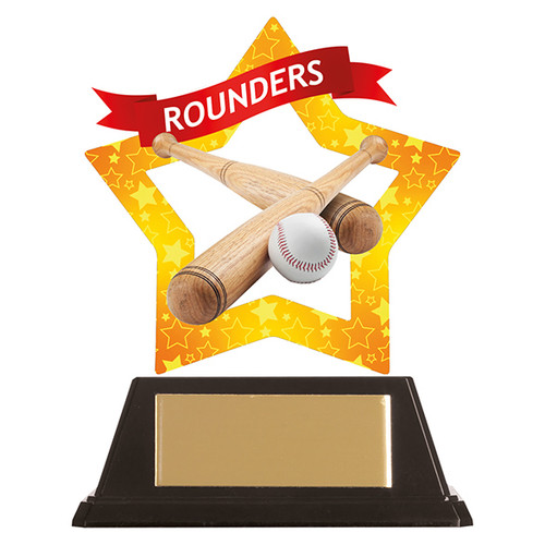 Rounders acrylic award 1st Place 4 Trophies FREE engraving
