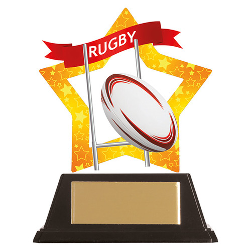 Rugby acrylic award 1st Place 4 Trophies FREE engraving