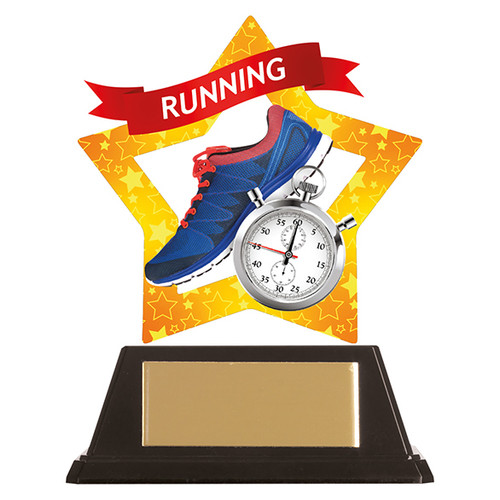 Running acrylic award 1st Place 4 Trophies FREE engraving