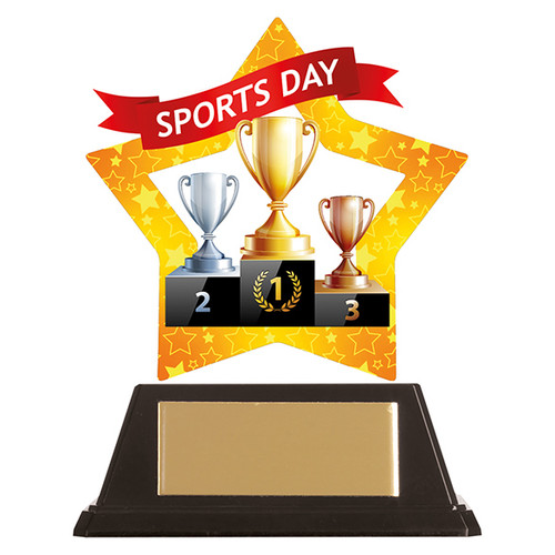 Sports Day acrylic award 1st Place 4 Trophies FREE engraving