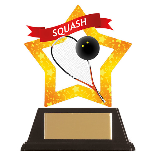 Squash acrylic award 1st Place 4 Trophies FREE engraving