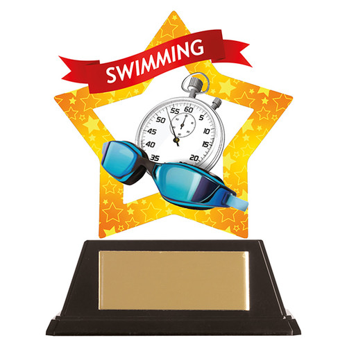 Swimming acrylic award 1st Place 4 Trophies FREE engraving