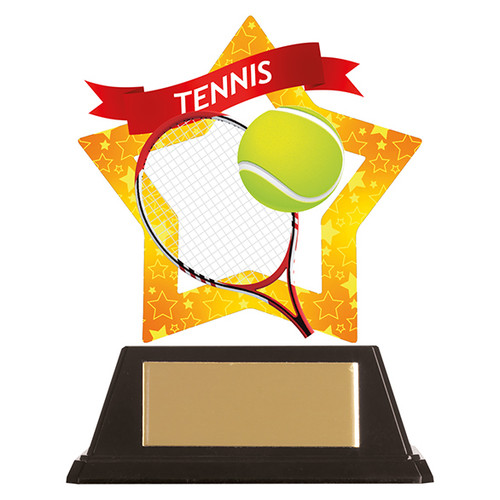 Tennis acrylic award 1st Place 4 Trophies FREE engraving