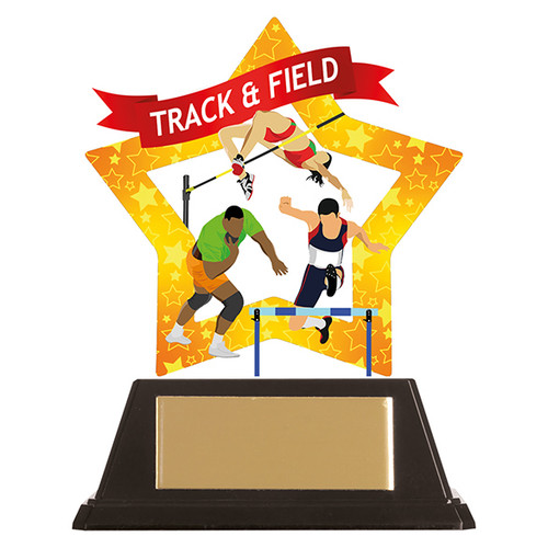 Track & Field acrylic award 1st Place 4 Trophies FREE engraving