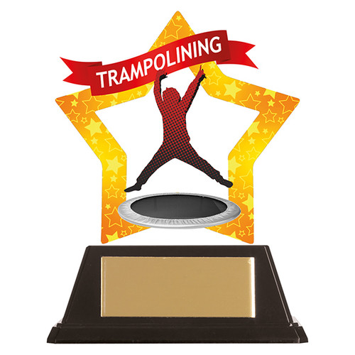 Trampolining acrylic award 1st Place 4 Trophies FREE engraving