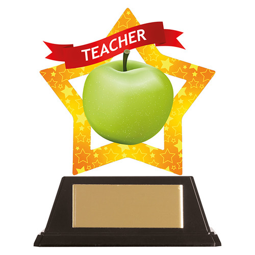 Teacher acrylic award 1st Place 4 Trophies FREE engraving