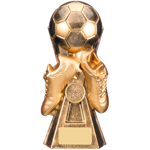 Gravity Gold Football Trophy with FREE engraving 5 sizes
