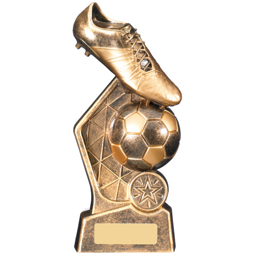 Hex Gold Football Trophy with FREE engraving 3 sizes