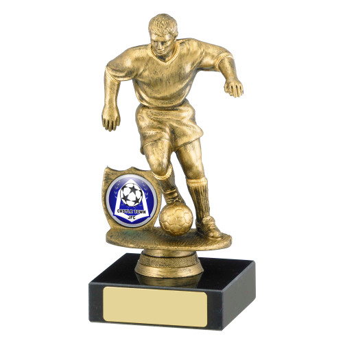Gold Male Football Trophy in 2 sizes FREE engraving